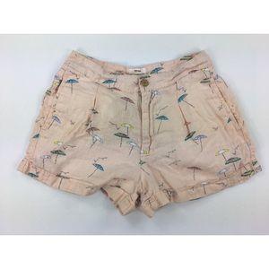 C & C California 2 Umbrella Print Linen Shorts